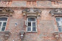Ceglana fasada stary nieuczesany w Istanbuł Turcja Zdjęcia Stock