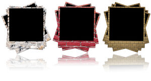 Ceglana fotografii rama Obrazy Stock