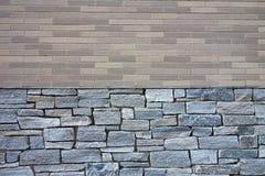 Ceglana i Kamienna ściana Zdjęcie Stock