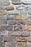 Ceglana kamienna ściana Obrazy Royalty Free
