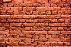 ceglana wysoka czerwona postanowienia tekstury ściana Fotografia Royalty Free