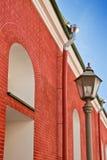 ceglanego domu lampionu czerwień Zdjęcie Stock