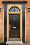 ceglanego domu przód drzwiowy elegancki Fotografia Stock