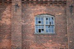 ceglanego domu stary przemysłowy Obraz Royalty Free
