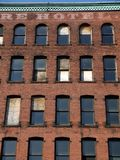 ceglanego miasta porzucona hotelu ściana Obraz Royalty Free
