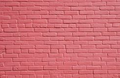 ceglanej czerwieni ściana Obraz Royalty Free