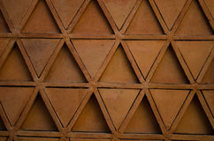 Ceglanej czerwieni mozaiki tekstura Obrazy Stock