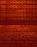 ceglanej czerwieni pokój ilustracji