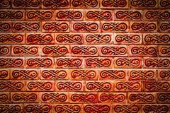 ceglanej czerwieni rocznika ściana Zdjęcia Royalty Free