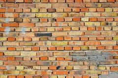 ceglanej czerwieni rocznika ściana Zdjęcie Royalty Free
