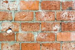ceglanej czerwieni tekstury ściana Obraz Royalty Free