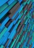 Ceglany Błękitny Diagonalny tło abstrakt Zdjęcia Royalty Free