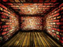 ceglany ciemnego pokoju rocznik obraz stock
