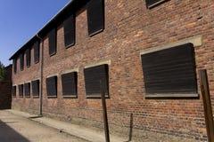 Ceglany dom w Auschwitz Ja eksterminacja obóz fotografia stock