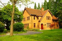 Ceglany dom w uniwersytecie Zdjęcie Stock