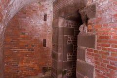 Ceglany Entryway Obrazy Royalty Free