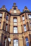 Ceglany fasadowy budynek Zdjęcia Royalty Free