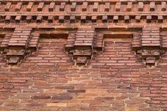 Ceglany fasadowy oddolny zdjęcie stock