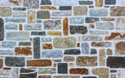 Ceglany Kamiennej ściany tekstury tło Zdjęcia Royalty Free