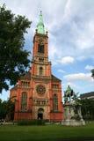 ceglany kościół Obraz Royalty Free