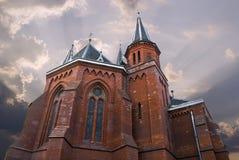 ceglany kościół Zdjęcia Stock