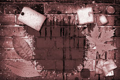 ceglany kolaż Fotografia Stock