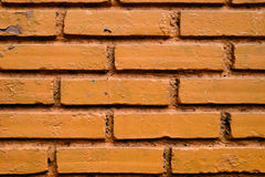 Ceglany Pomarańczowy tekstura materiał Obraz Royalty Free