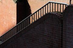Ceglany schody w mieście zdjęcia royalty free