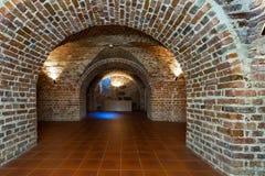 Ceglany łuk w dungeon Zdjęcie Stock