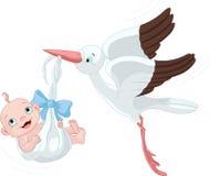 Cegonha e bebé Fotografia de Stock