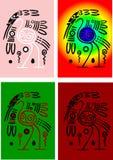 Cegonhas dos indianos americanos Imagem de Stock Royalty Free