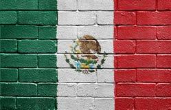 cegły chorągwiana Mexico ściana Obraz Stock