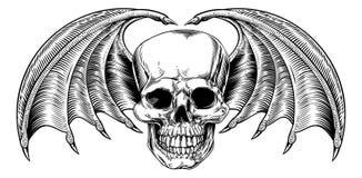 Ceifador voado do crânio ilustração do vetor