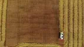 Ceifeira do arroz que cria formas geométricas vídeos de arquivo