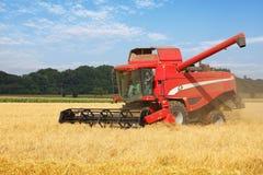 Ceifeira no campo de trigo, colhendo Imagens de Stock Royalty Free