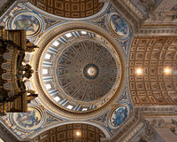 Ceil of the St' Peter's Basillica Stock Photo