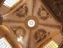 Ceiling. Decoration in S.Giovanni church in Rome, Italy stock photography