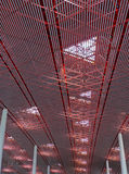 Ceiling. Endless ceiling in Beijing Airport stock photos
