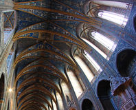 Ceiling of the Albi Cathedral in France Stock Image