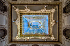 Ceiling at the Alcazar in Sevilla. Architectural photograph of the ceiling at the Alcazar in Seville, Spain stock photo