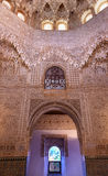 Ceiling Alhambra Arch Moorish Wall Designs Granada Andalusia Spain. Round Shaped Domed Ceiling Arch Alhambra Moorish Wall Windows Patterns Designs Granada Stock Photos