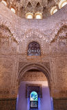 Ceiling Alhambra Moorish Wall Designs Granada Andalusia Spain Royalty Free Stock Photo