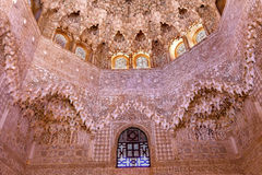 Ceiling Alhambra Moorish Wall Designs Granada Andalusia Spain Stock Photos