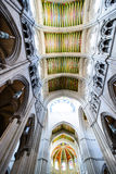 Ceiling almudena. Ceiling and Interior view of Almudena cathedral, Madrid, Spain Stock Photo