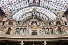 Ceiling Antwerp Central Station ANTWERP- FEBRUARY 3rd. 2015 Royalty Free Stock Photos