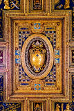 Ceiling of Archbasilica of St. John Lateran in Rome Stock Photography