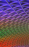 Ceiling arches, Kings Cross Station Royalty Free Stock Image