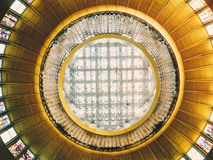 Ceiling architecture, abstraction.  Royalty Free Stock Photography