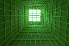 Ceiling Architecture Green Stock Image