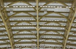 With spotlights. The ceiling of the arena with spotlights royalty free stock photo